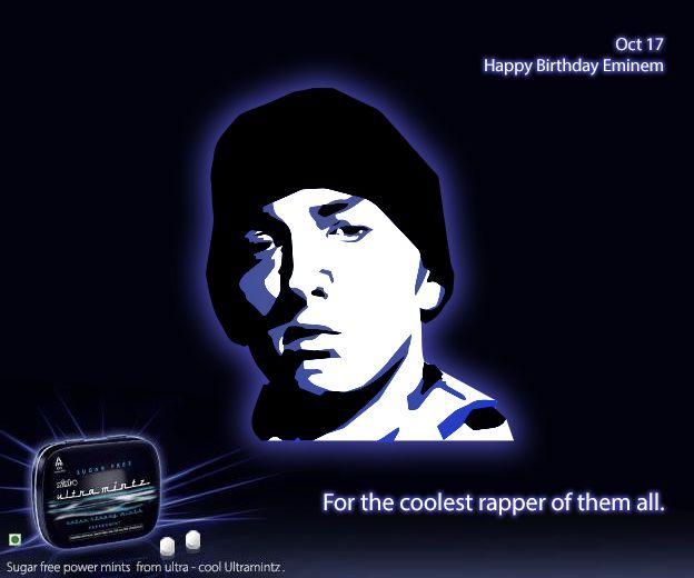 Here's wishing 'The Real Slim Shady' a Happy Birthday! #Eminem #Rap #Music