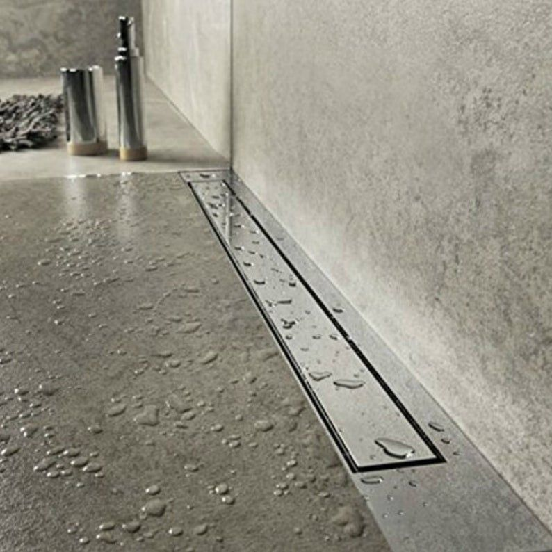 Smooth Surface Flat Stainless Steel Long Shower Channel Drain