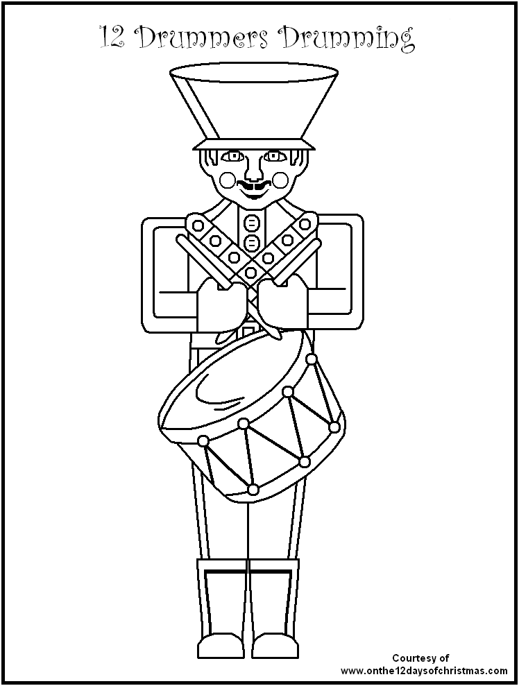 AND . . . on the 12th day of Christmas . . . coloring page from ...