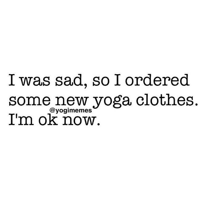 Don't be sad!! Just shop www.yogspiration.com and cheer yourself up!! Click the link in our bio!! via @yogimemes #yogspiration by yogspiration