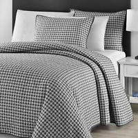 Comfy Bedding Checkered 3-piece Bedspread Coverlet Set (King), Grey (Microfiber, Solid Color)