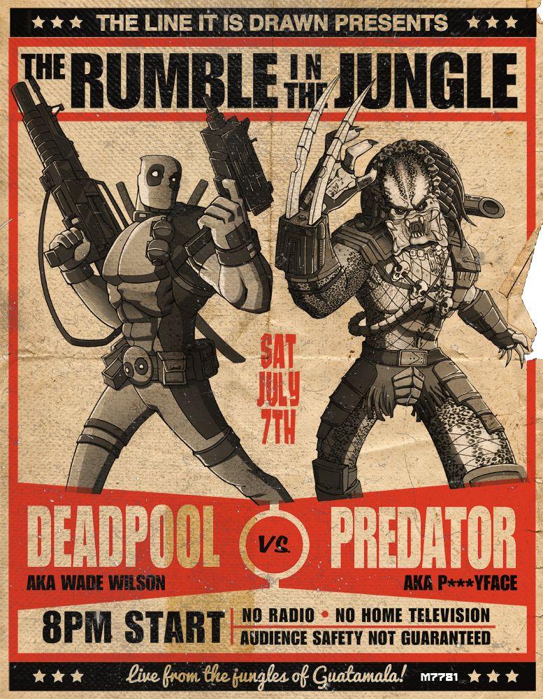 Deadpool vs Predator by *m7781