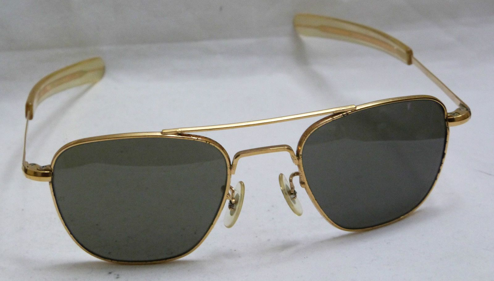 8173a8a71c5 Vtg 60 s Gold Plated Sunglasses Randolph Eng USA 5 1 2 Aviator ...