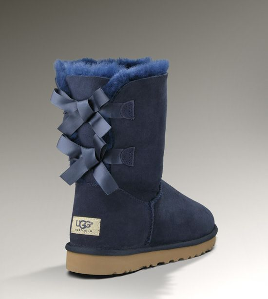 Bailey Bow In Navy Uggs Bailey Bow Uggs Ugg Boots Blue Boots