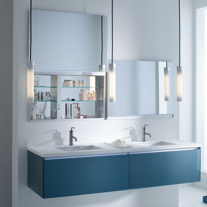 Robern Uc3627fpl 36 Inch Uplift Cabinet Flat Plain Mirrored