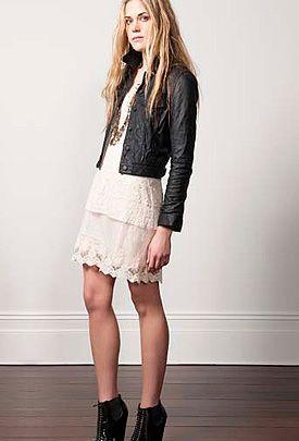 Leather Jacket Over A Lace Dress Leather Jacket Dress