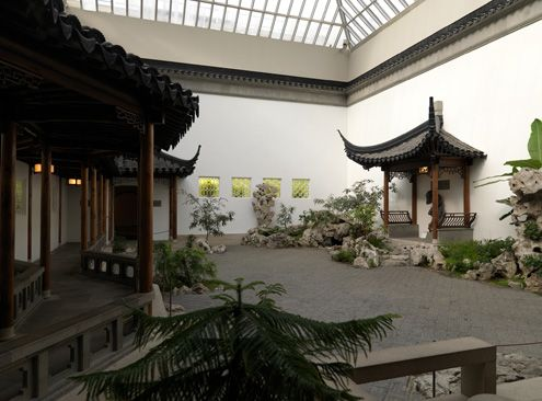 The Chinese Garden- lesson    Idea: have students draw a Chinese Garden using perspective and traditional Chinese Garden concepts