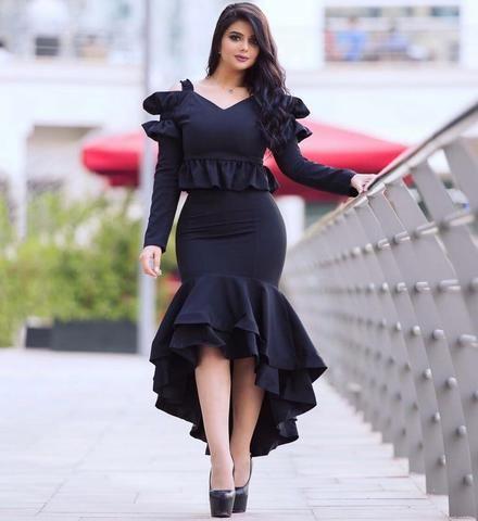 b50745657243 Black Salsa 2 Piece Dress | #OwnTheLooks | Dresses, Peplum Dress ...