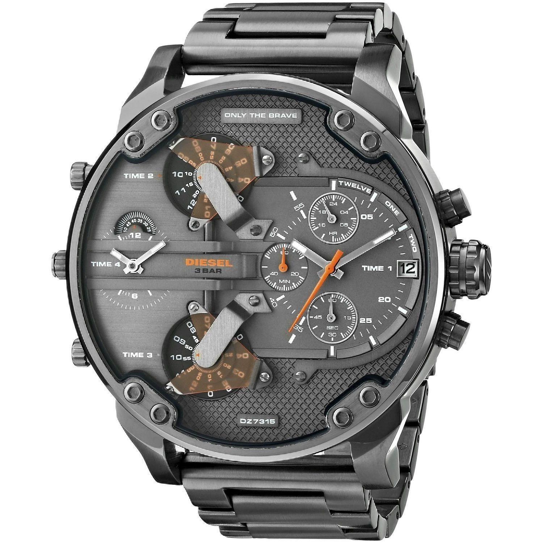 Diesel mens mr daddy dual zone chronograph grey dial grey