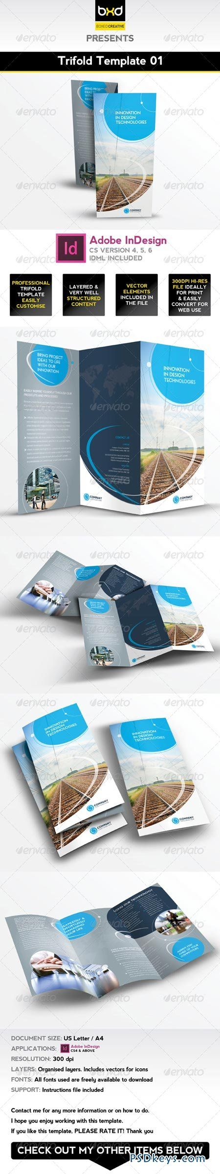 Trifold Brochure Template 01 - InDesign Layout 4476765 | Brochures ...