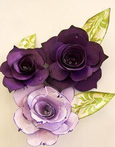 #papercraft #flowers #DIY via Windy Robinson Paula's Roses - #Tutorial 1 scrappycanucks