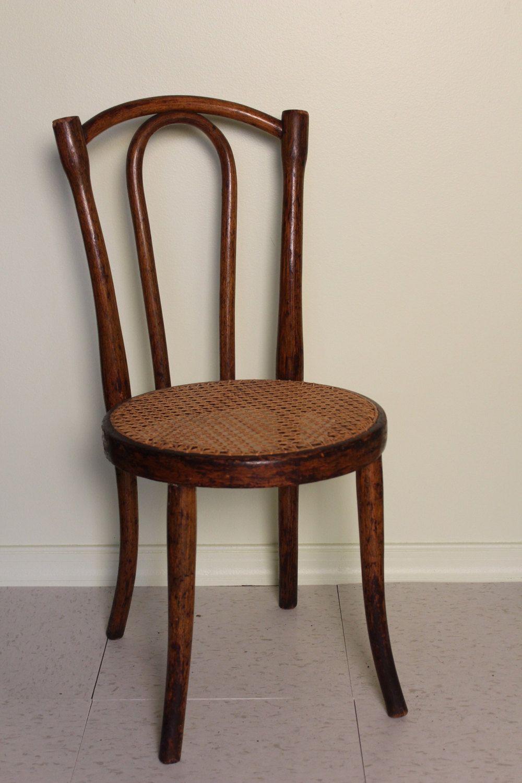 Childu0027s Bentwood Cane Chair By TimesOfCoalAndIron On Etsy