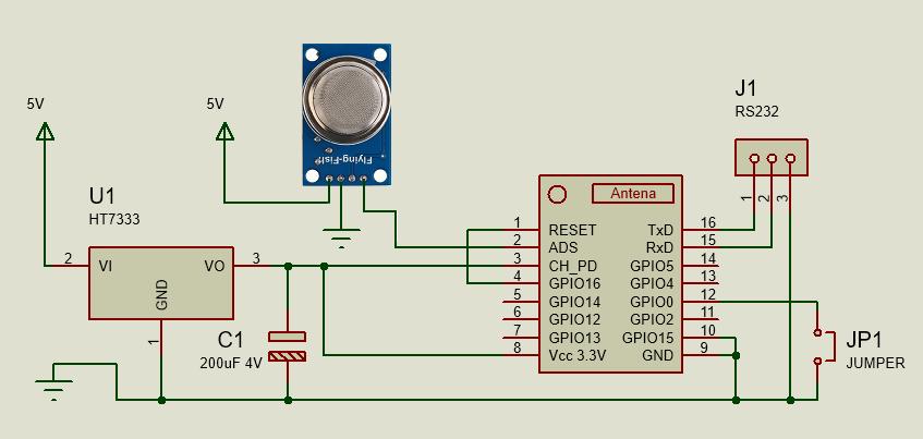 SmartHome MQTT Luftqualitätssensor mit MQ135 Schaltplan | Arduino ...