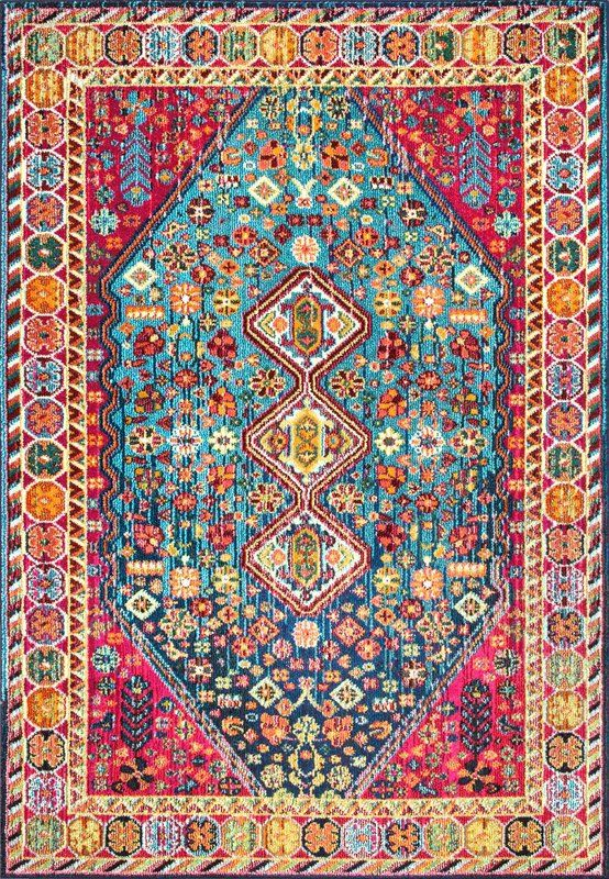 Azemmour Blue Pink Area Rug Dream House In 2019 Floral