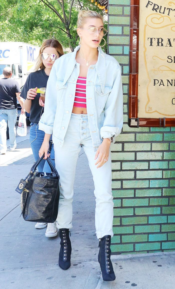 Hailey Baldwin Just Did the Double-Denim Trend in Her Own Way
