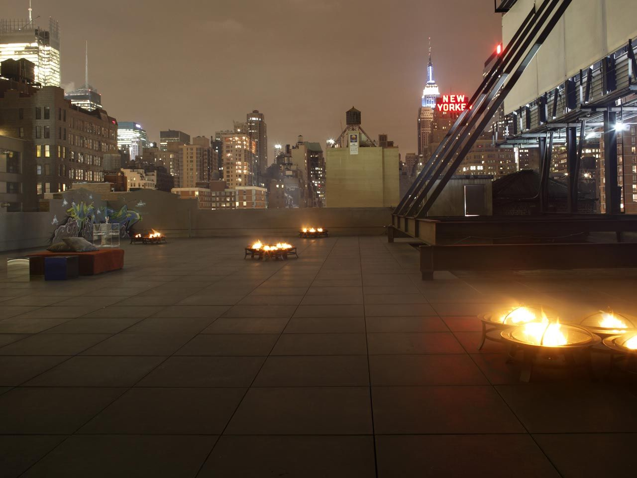 Skylight West New York S Largest Industrial Rooftop Event Space Including Space To Project Video Skylight Event Space Rooftop