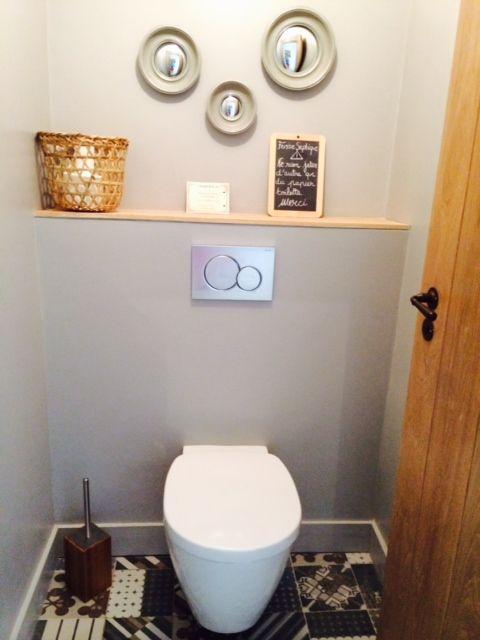 wc #décoration #carrelage Décoration de WC avec des carreaux de ...