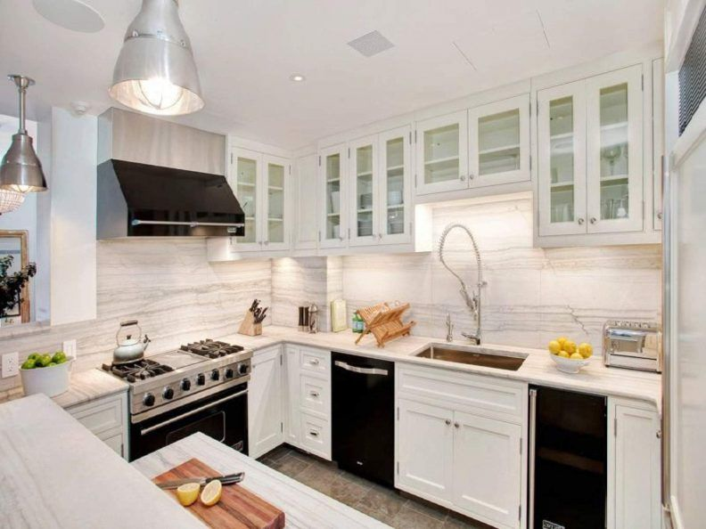 Image result for black hood with white kitchen