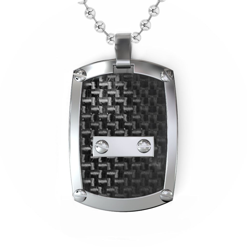 Houndstooth And Nail Dogtag Necklace In 2019 Products Dog Tag Necklace Houndstooth Dog Tags