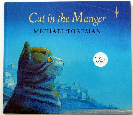 Michael Foreman Cat In The Manger Signed Copy Book Illustration