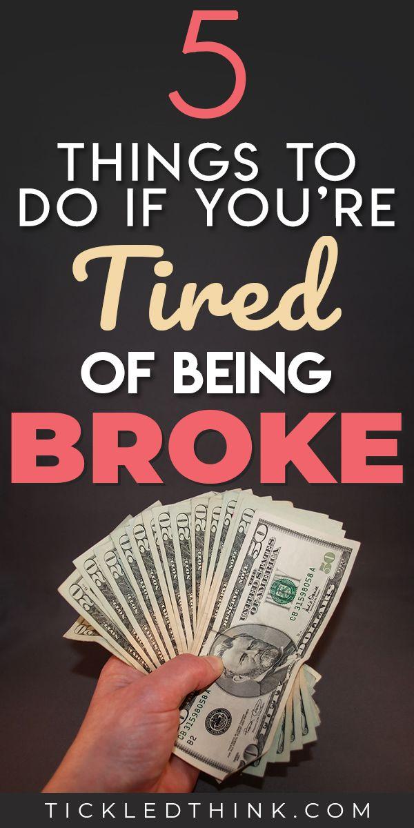 5 Easy Ways to Stop Being Broke Right Now #startsavingmoney