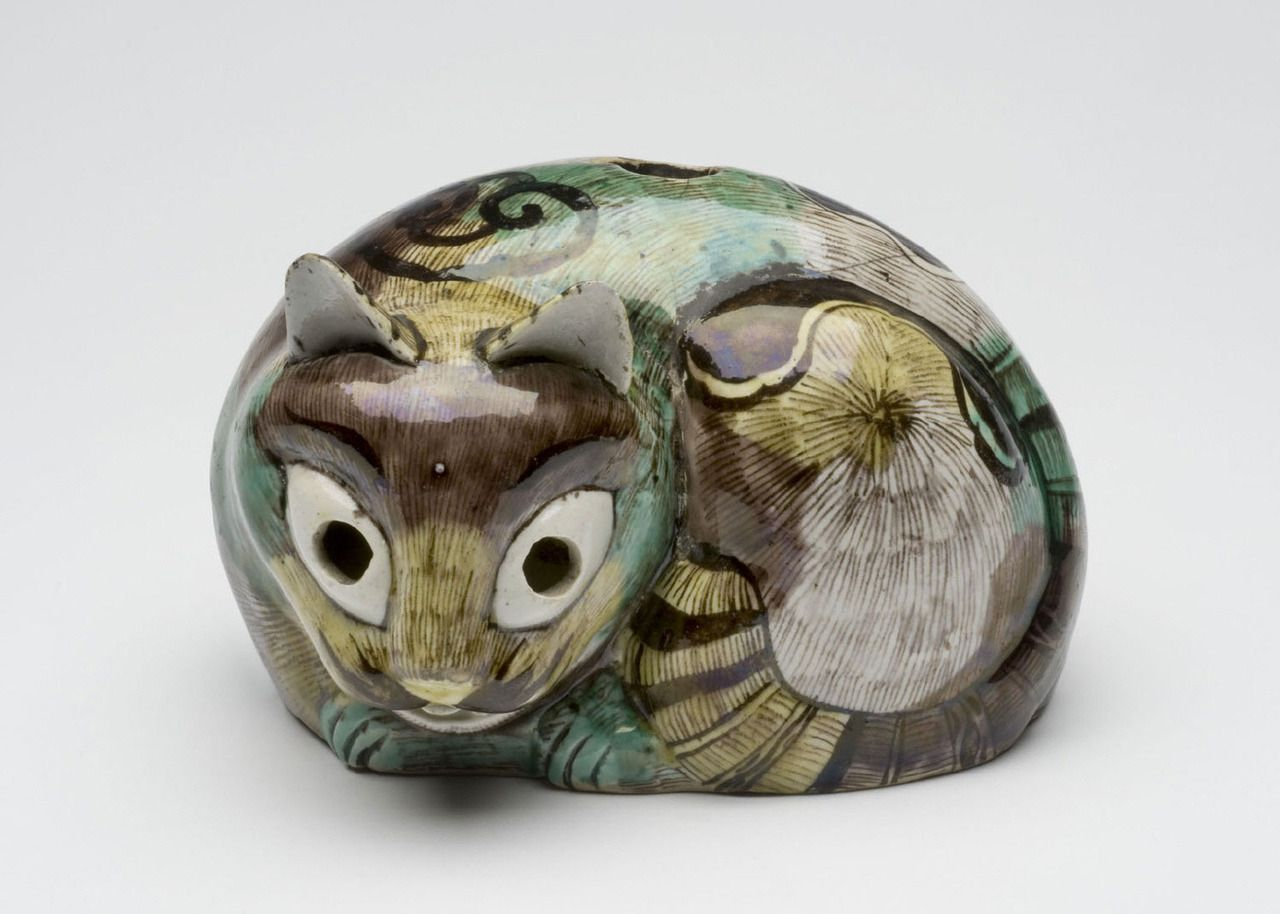 Lantern in the Form of a Tortoiseshell Cat, Qing Dynasty (1644-1911), Kangxi Period (1662-1722). Artist/maker unknown