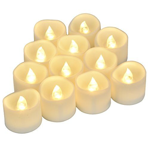 Flameless Votive Candles Flameless Candles Battery Operated Uneven Edge Led Tea Lights  12