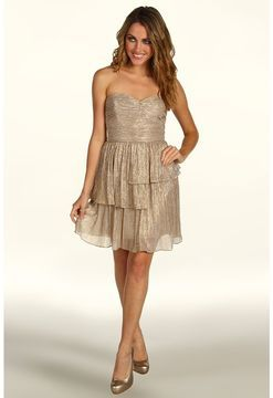 e160ac643bfc Max and Cleo - Rebecca Lurex Knit Dress (Gold/Silver) - Apparel on shopstyle .com