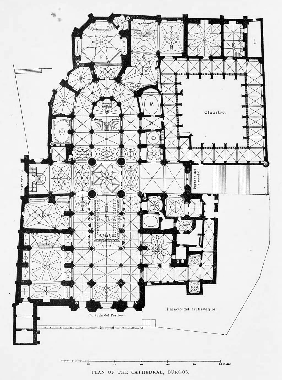 plan of the cathedral burgos [ 1024 x 1382 Pixel ]