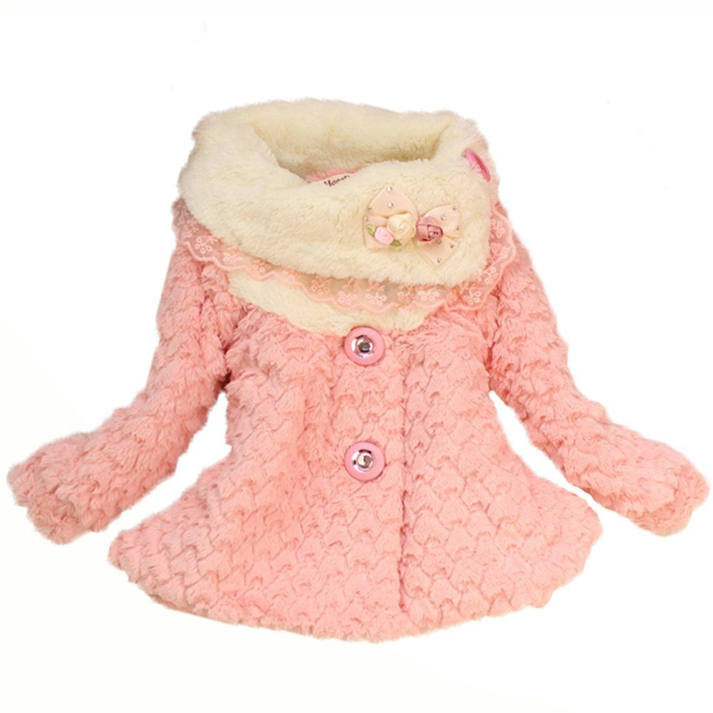 8f28f9a622e6 Amazon.com  New Baby Girls Kids Toddler Outwear Clothes Winter ...