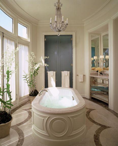Master bath in Paris. Andrew Skurman Architects.