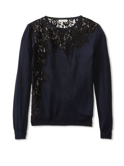 Nina Ricci Women's Lace Inset Pullover at MYHABIT