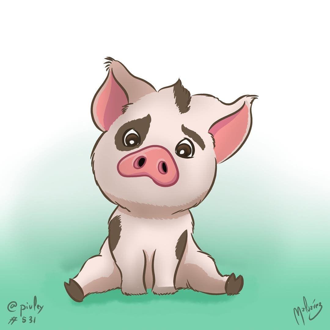 Piggy from Moana / Vaiana I think hes pretty cute isnt he? Me parece ...