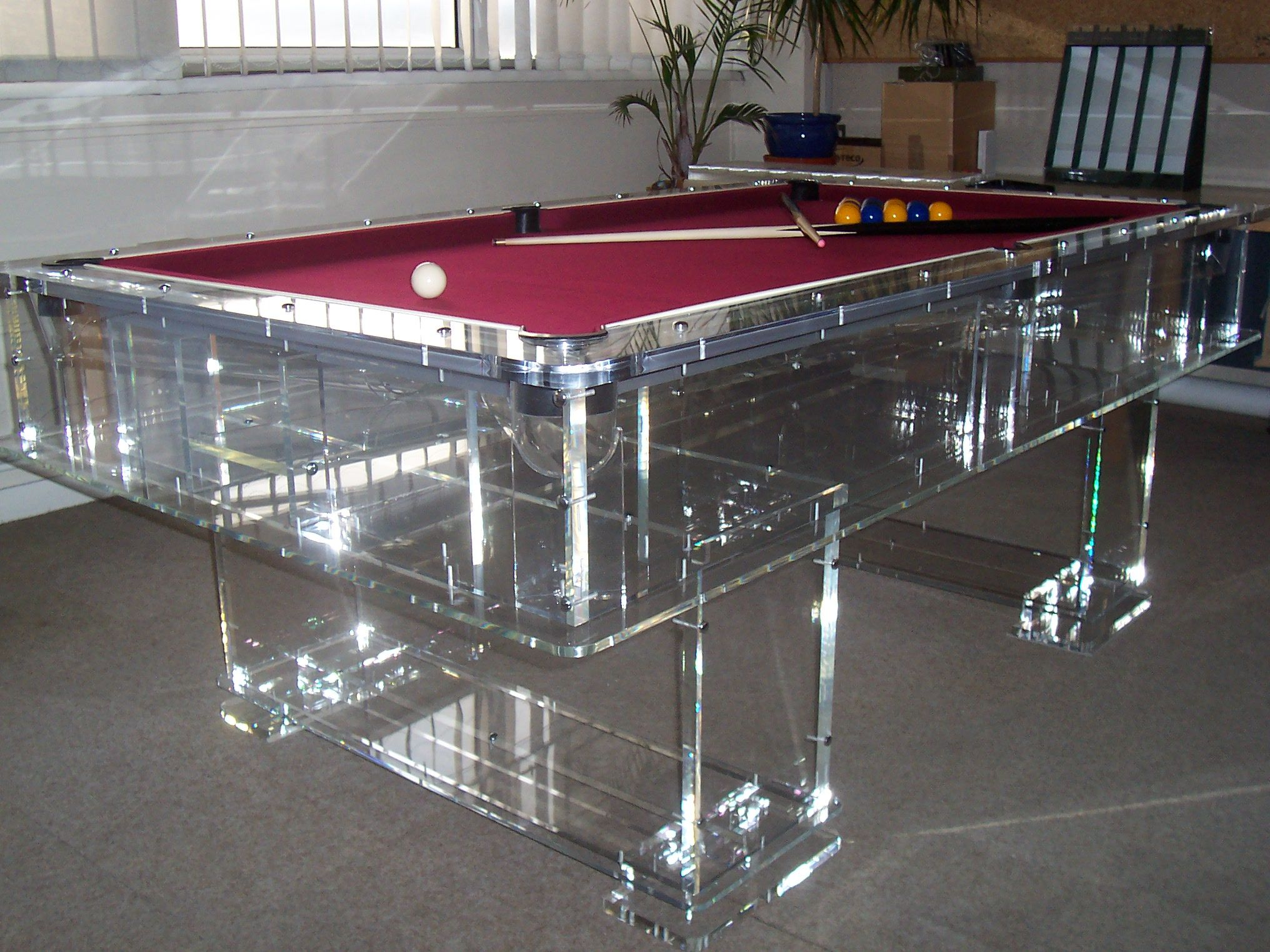 Who Wouldnt Want One Of These In Their Home This Gleaming Perspex - Lucite pool table