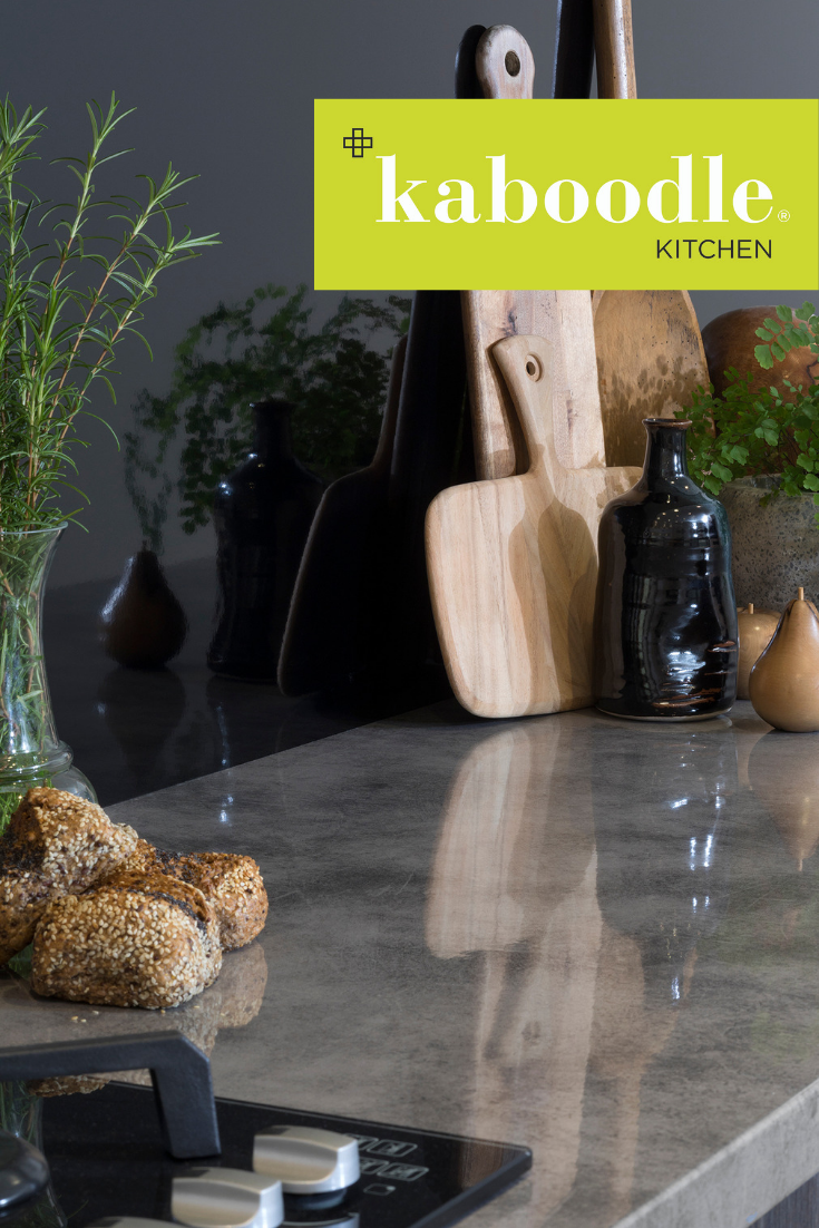 for a cool and clean look of polished concrete our enoki laminate benchtop is your answer to on kaboodle kitchen enoki id=11196