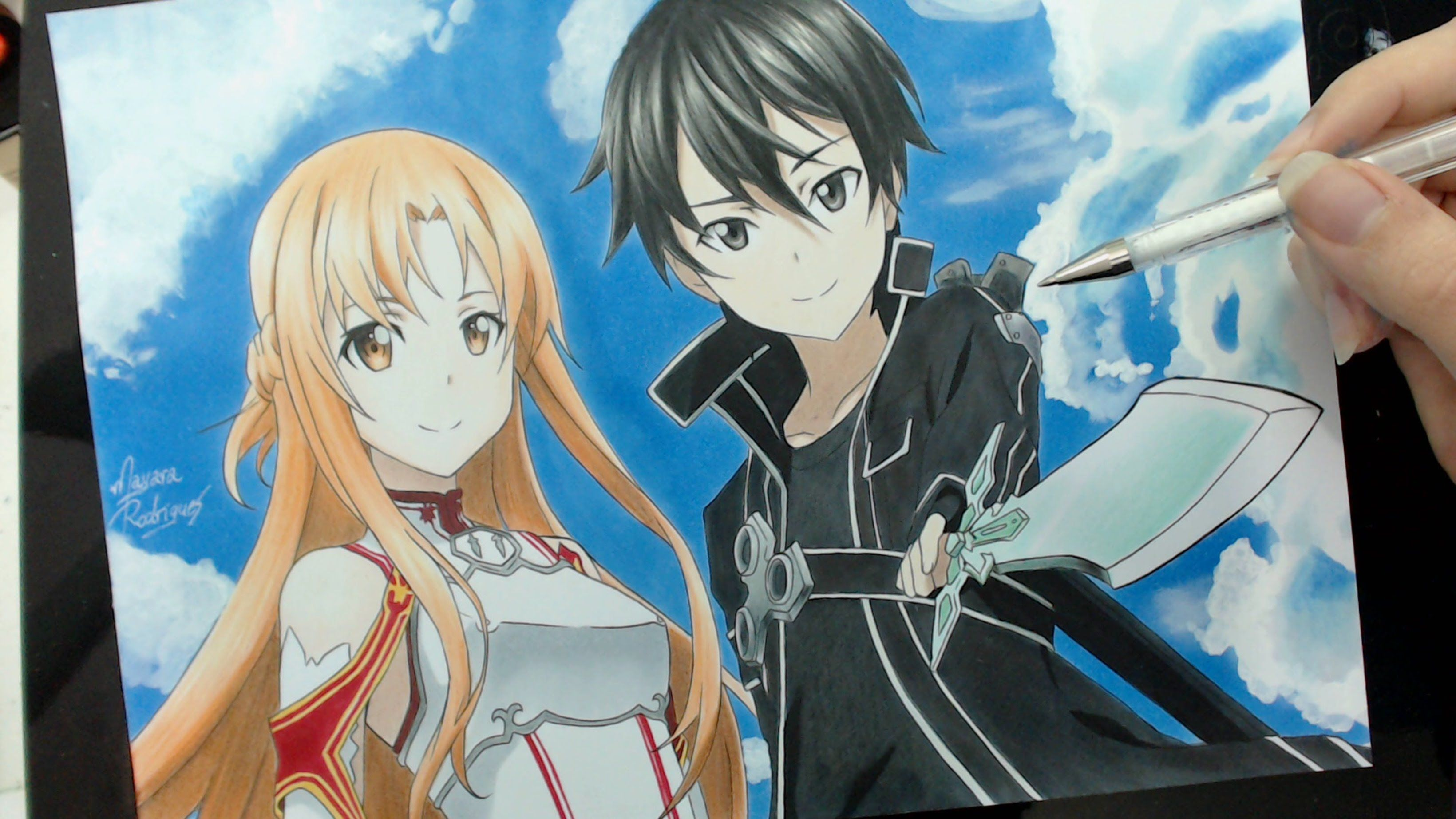Dress up games favourites by asuna and kirito on deviantart - Speed Drawing Asuna And Kirito Sword Art Online