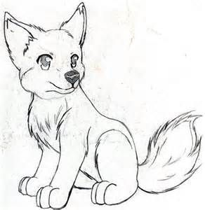 Charming Anime Wolf Pup Drawings   Lots Of Sketches Here