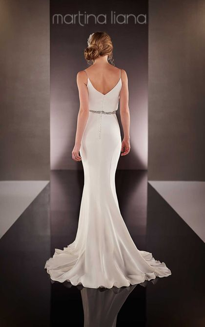 designer beach wedding dress by martina liana modern and
