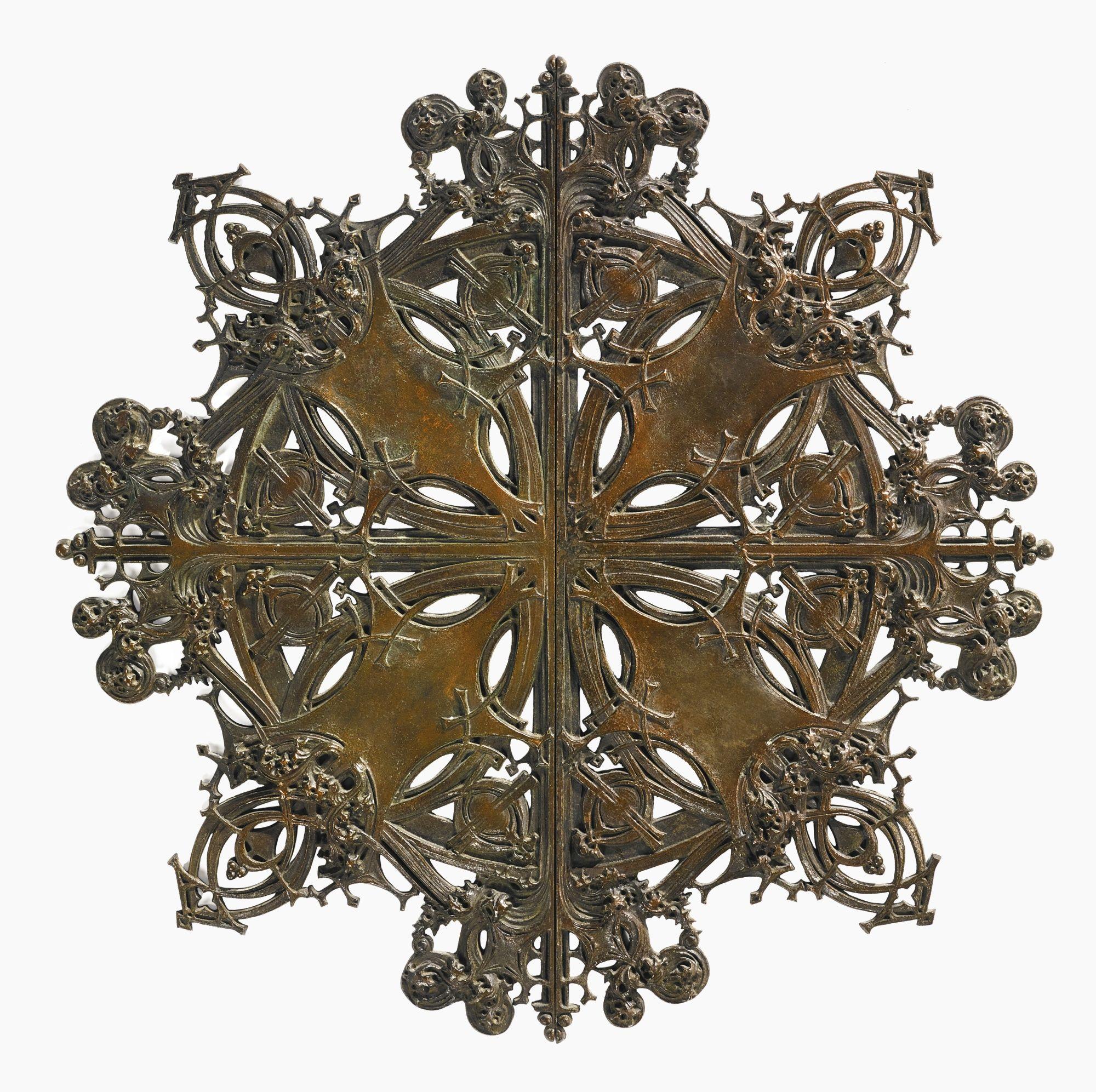 Dankmar adler and louis sullivan elevator door medallion from the