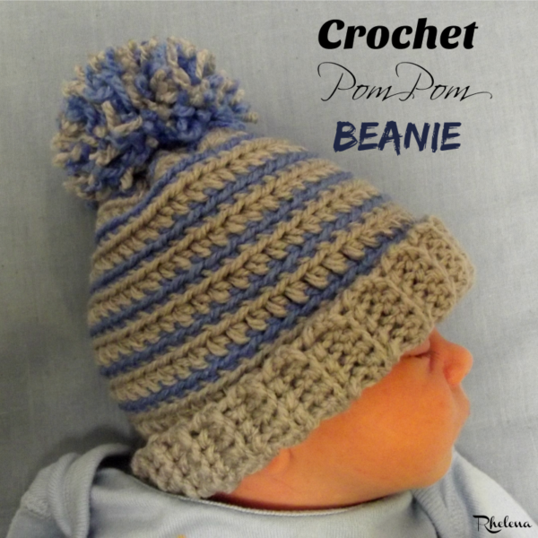 Crochet Pom Pom Beanie ~ FREE Crochet Pattern | For the BABE ...