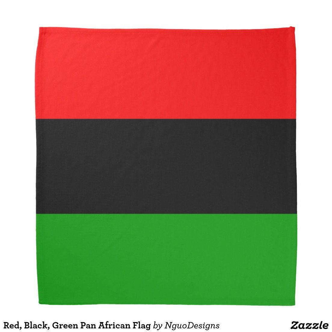 Red Black Green Pan African Flag Bandana Zazzle Com African Flag Pan African Flag Flag Bandana
