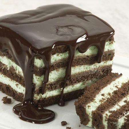 easy recipe: Chocolate Mint Torte - Chocolate and mint have a natural affinity for each other, so combining layers of sweet chocolate cake with mellow mint cream mousse is a natural combination too. Add in soft swirls of semi-sweet ganache, chill well and you've got a cool and creamy dessert that is very refreshing. Super easy to make!
