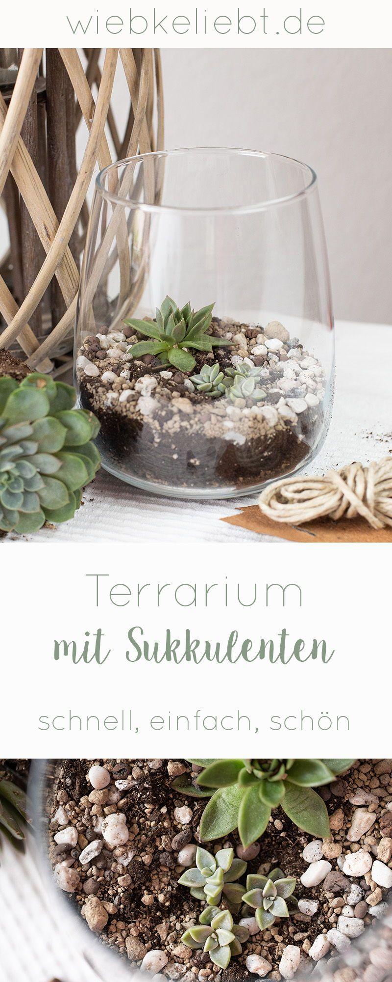 DIY Mini Terrarium für Sukkulenten selber machen | DIY Blog | Do-it-yourself Anleitungen zum Selbermachen | Wiebkeliebt