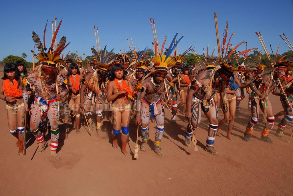 Rituel Du Yawari Aldeia Wauja Parc Xingu Mato Grosso