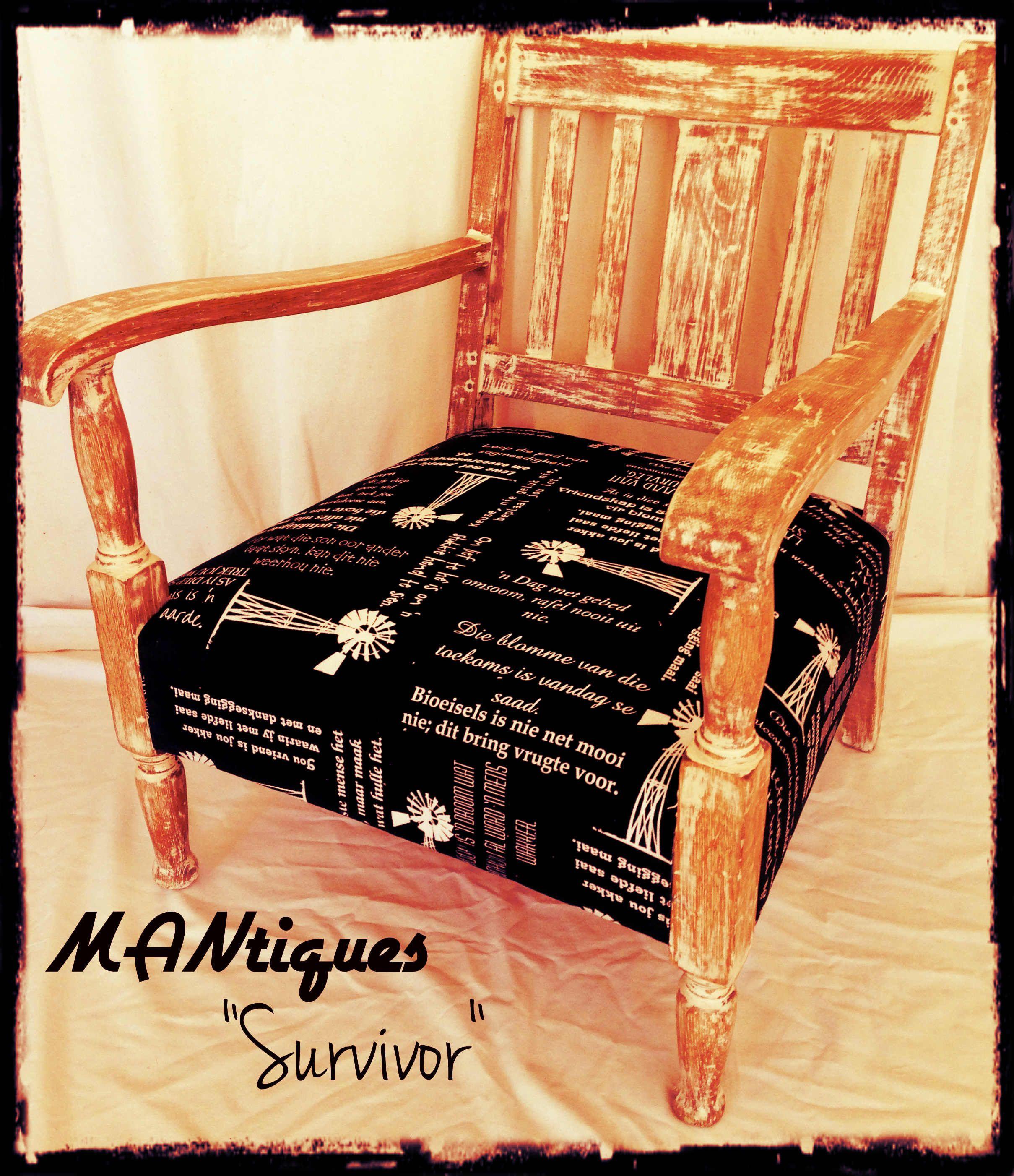 rustic office chair black