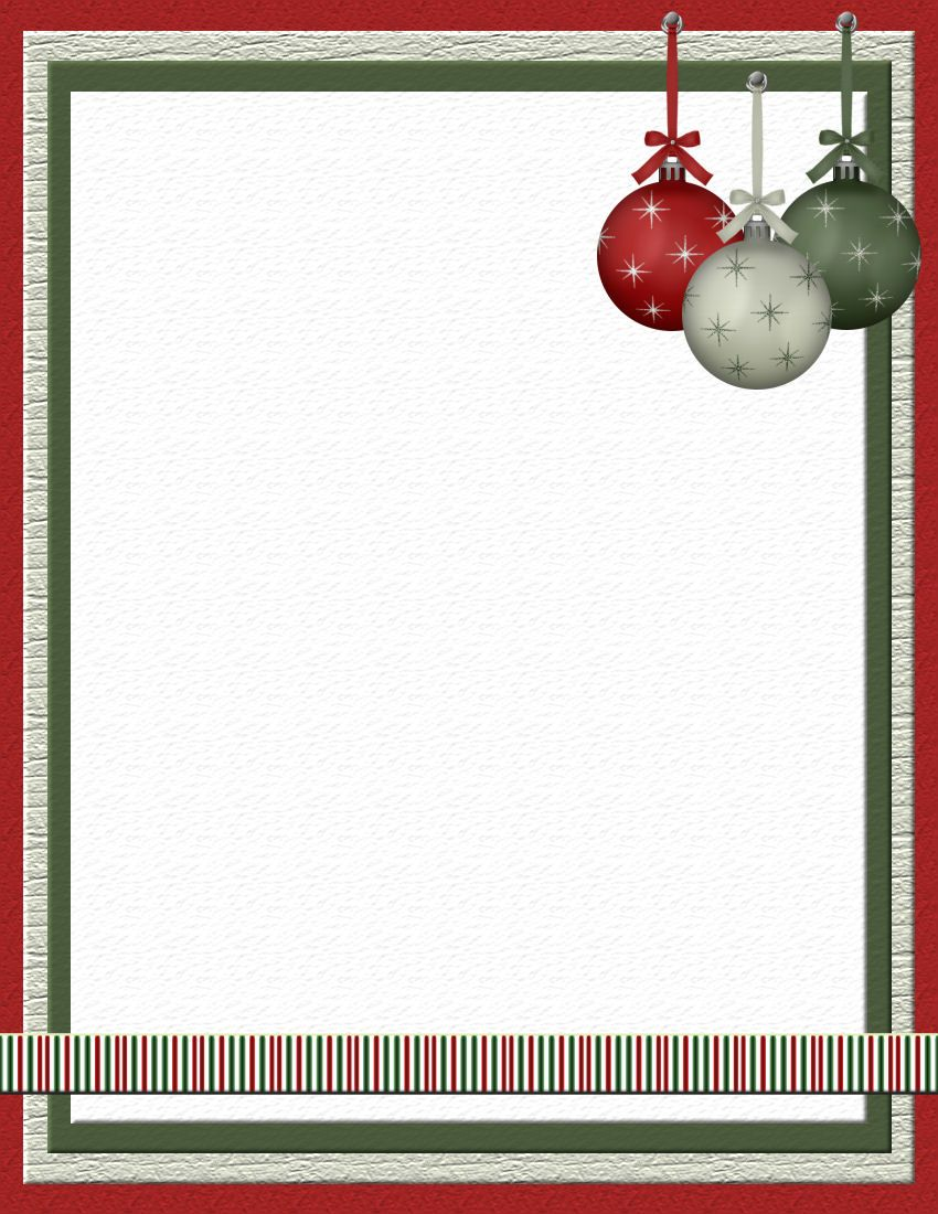 Free Printable Page Borders – Christmas Menu Word Template