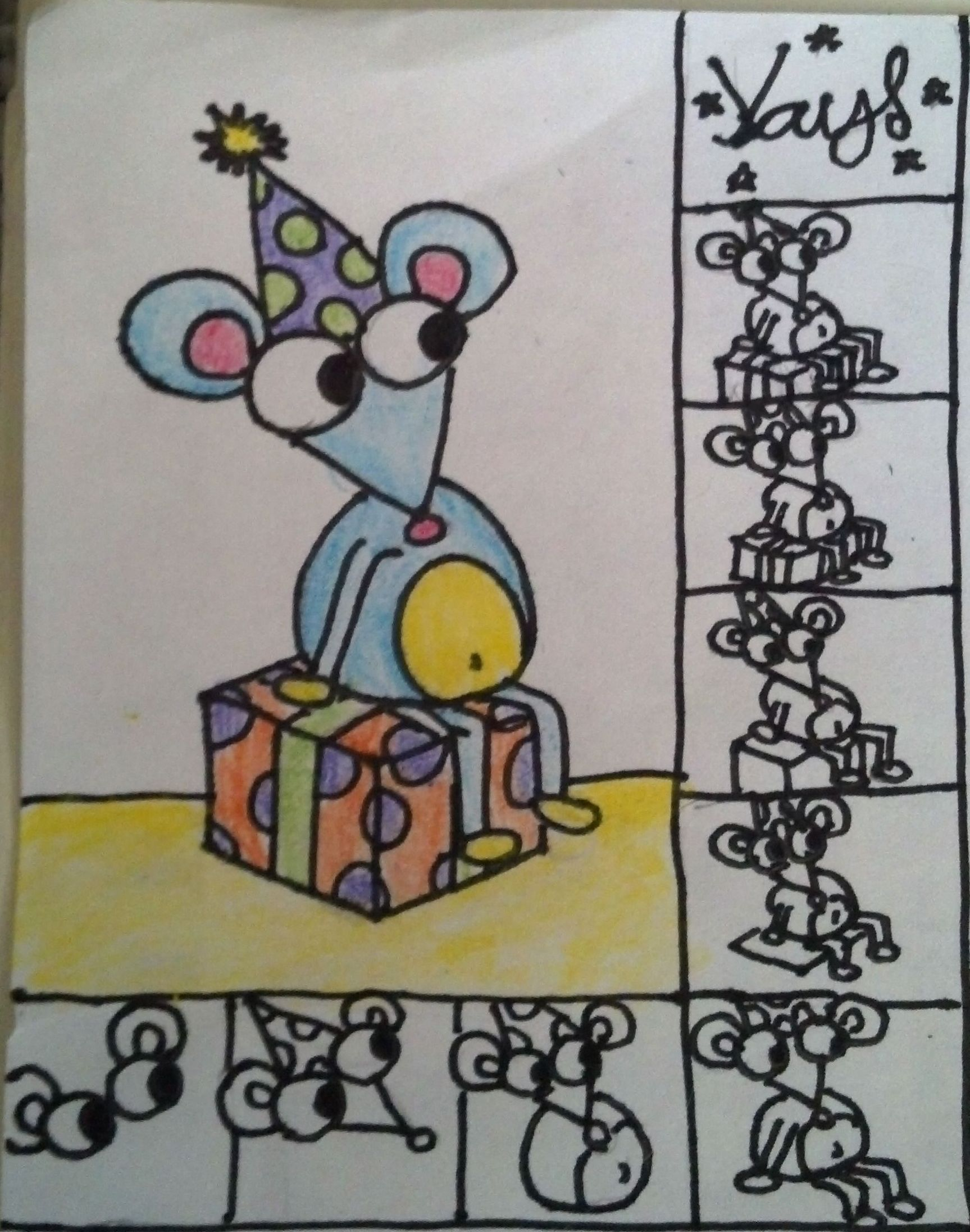 Step by step tutorial how to draw a simple big eyed mouse step by step tutorial how to draw a simple bookmarktalkfo Image collections