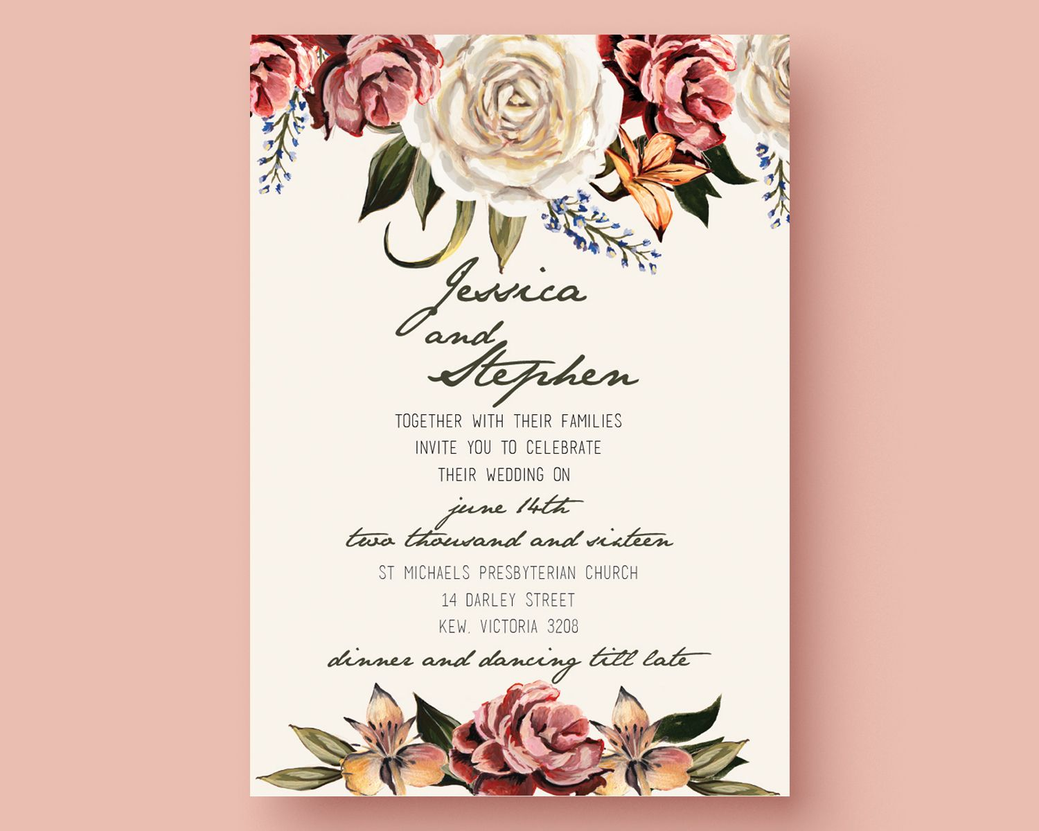 Get The Template Free Download This Is An Adobe Illustrator File - Make your own wedding invitations free templates