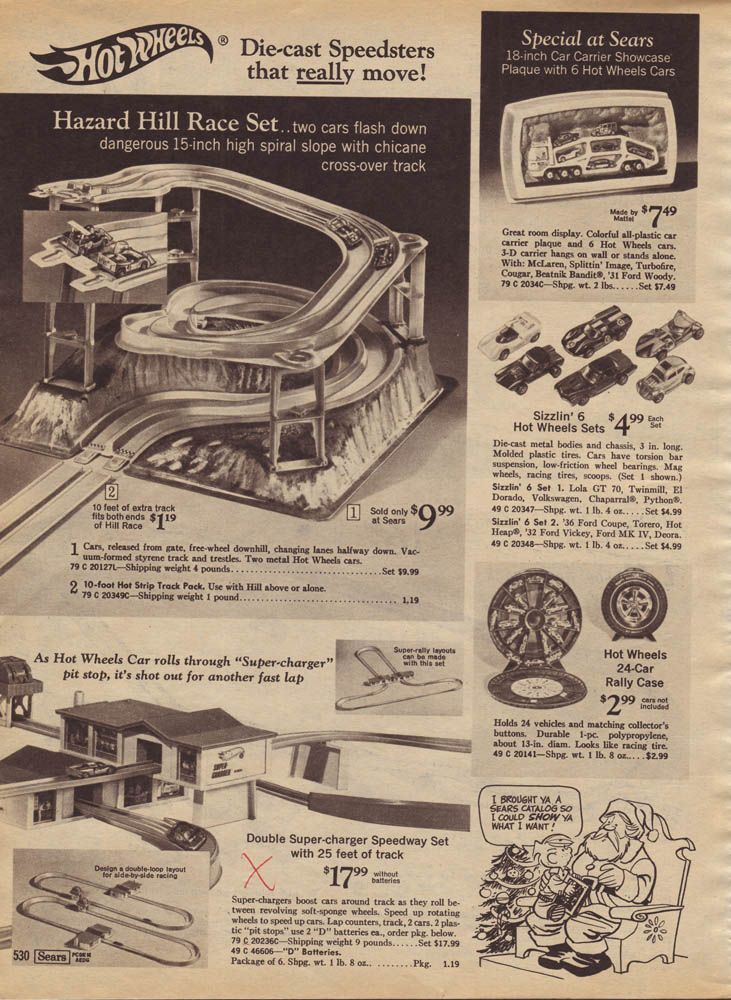Hot Wheels Sears 1969 Christmas Catalog Pages Hot