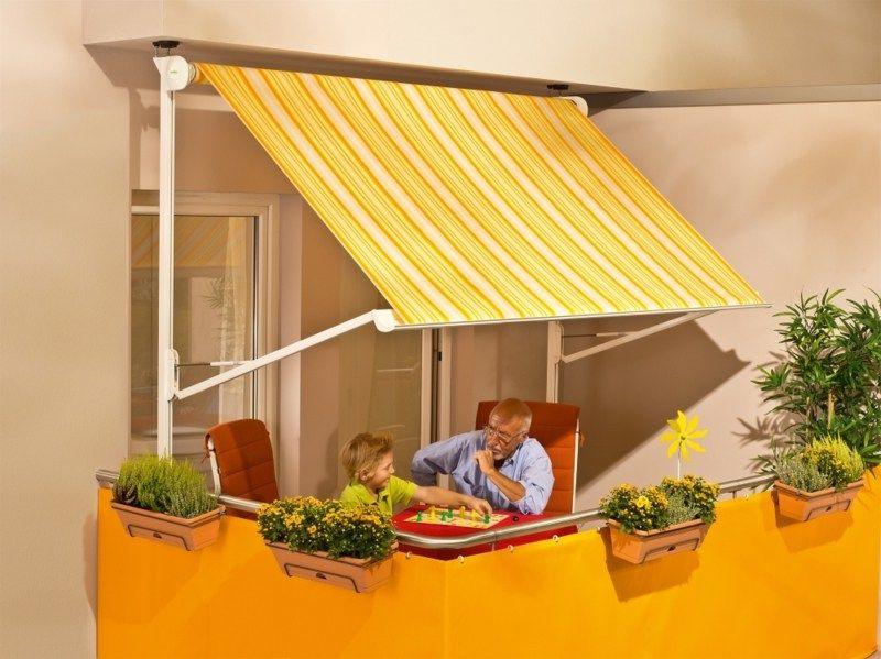 Balkonmarkisen als Wetter- und Sichtschutz 45 Ideen Pinterest - markisen fur balkon design ideen